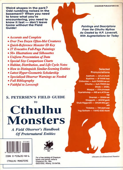 Cthulu Monsters - back