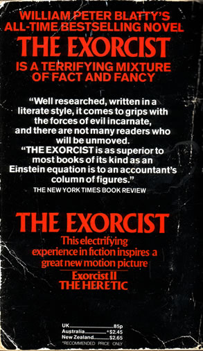 William Peter Blatty - The Exorcist - back