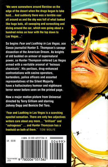 Hunter S. Thompson - Fear And Loathing In Las Vegas - back