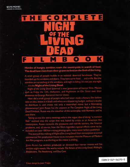The Complete Night Of The Living Dead Filmbook - back
