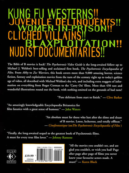 The Psychotronic Video Guide - back